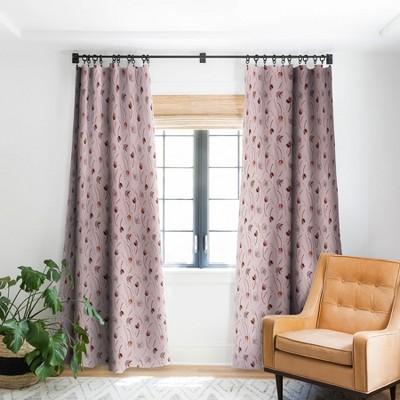 iveta abolina evonne mauve single panel blackout window curtain 84 x 50 deny designs
