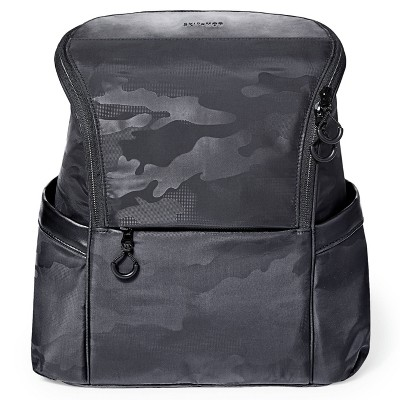 Skip Hop Diaper Bag Backpack Easy-Access Unisex Bag Paxwell - Black Camo
