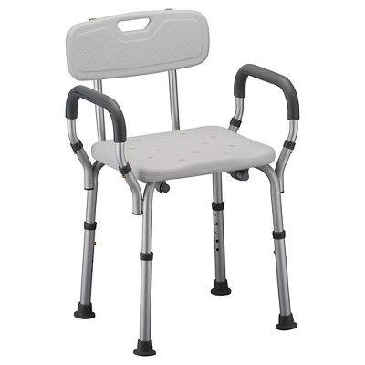 chair cba steel 3 in 1 potty nova bath seat with back and arms white target