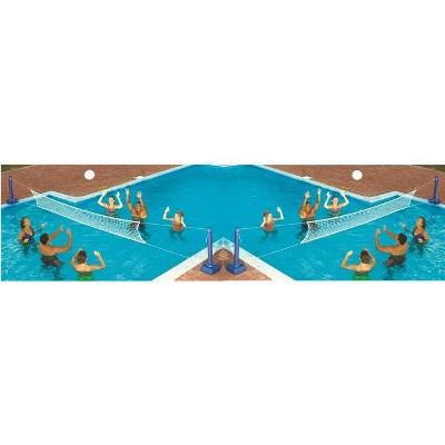 2) Swimline 9186 Cross Inground Swimming Pool Fun Volleyball Net Game Water Sets