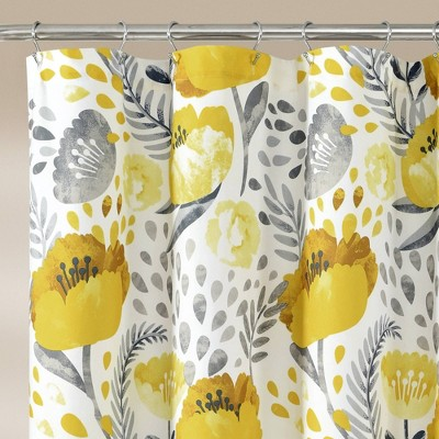 blue yellow shower curtains target
