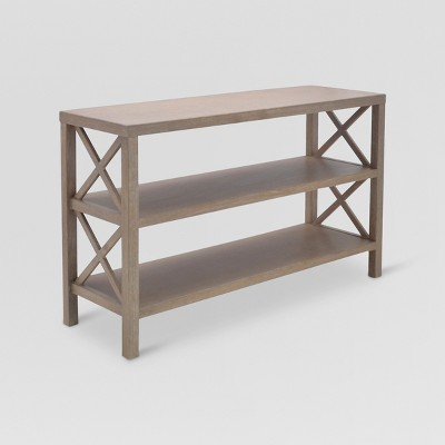 target sofa table espresso cindy crawford montclair reviews owings console with 2 shelves threshold