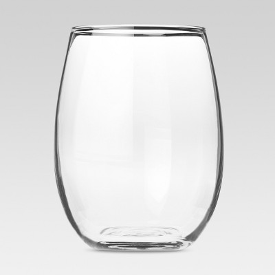 Modern Stemless White Wine Glasses 17oz Set of 4 - Threshold™
