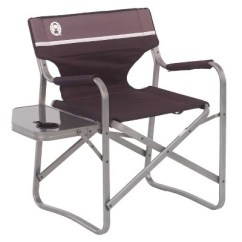 Coleman Portable Deck Chair Massage Therapist With Carrying Case And Side Table Black