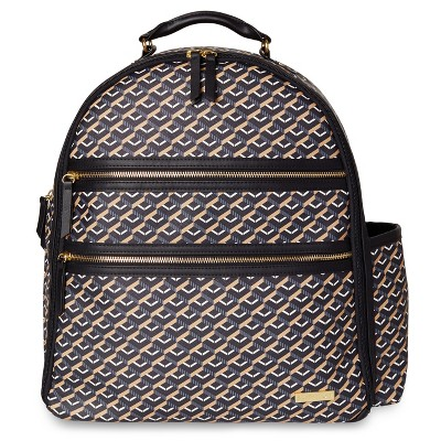 Skip Hop Deco Saffiano Backpack - Black