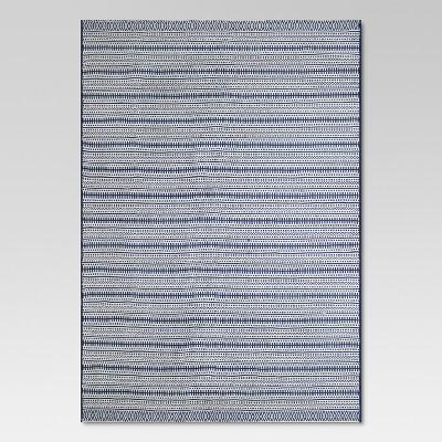 7 x 10 pattern stripe outdoor rug blue threshold
