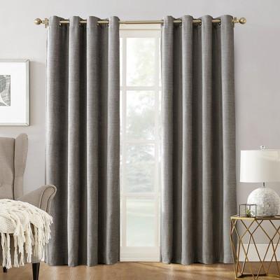 Sun Zero Manor Chenille Velvet 100% Extreme Blackout Grommet Curtain Panel