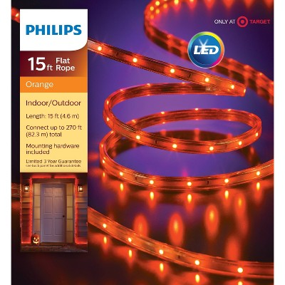 Philips 135ct LED Halloween Flat Rope Lights Orange