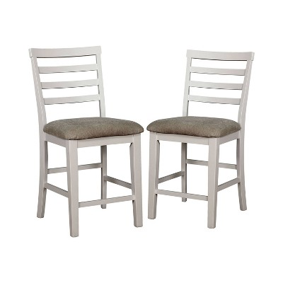 Set of 2 Tremond Dining Chairs White/Weathered Oak - Sun & Pine