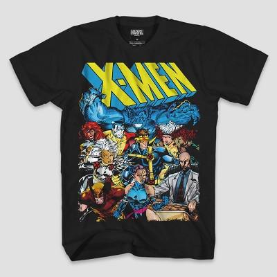 Men's Marvel X-Men Group Short Sleeve T-Shirt - Black