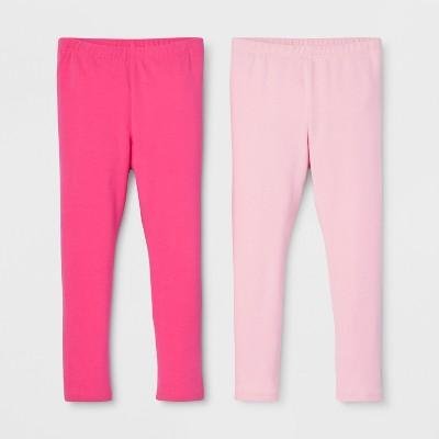 Toddler Girls' 2pk Leggings Set - Cat & Jack™ Dark Pink/Light Pink