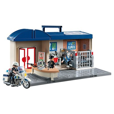 playmobil take along fire station and