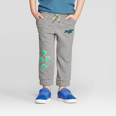 Toddler Boys' Dino Foot Print Jogger - Cat & Jack™ Gray