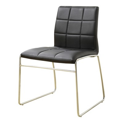 black dining room chairs with chrome legs office chair alternatives iohomes 5pc glass top leg round table set metal target