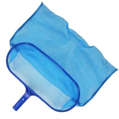 "Pool Central Standard Deep-Bag Swimming Pool Leaf Rake Head - Fits Most Poles 16"" - Blue"