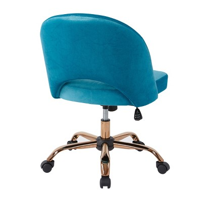turquoise desk chair target in gold lula office 4 more