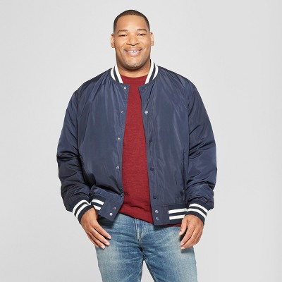 Men's Big & Tall Varsity Bomber Jacket - Goodfellow & Co™