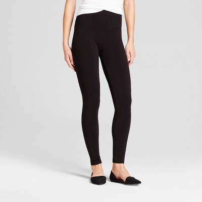 Women's Seamless Fleece Lined Leggings - A New Day™ Black