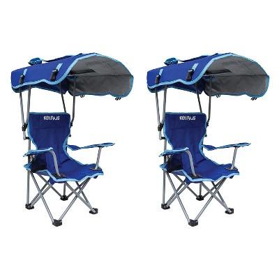 folding canopy chair best inversion kelsyus kids original backpack lounge 2 pack blue 80316 target
