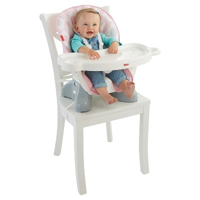 fisher price space saving high chair for vanity spacesaver pink ellipse target