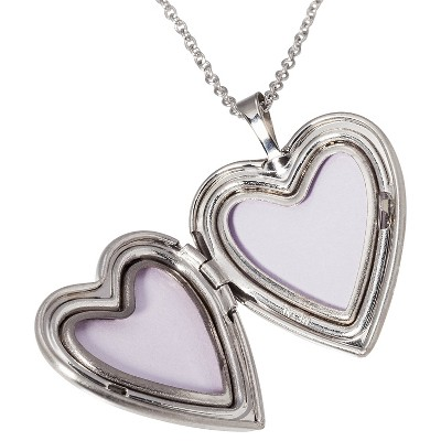 silver plated pendant necklace