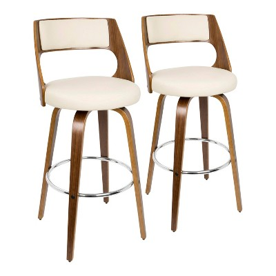Set of 2 Cecina Mid-Century Modern Barstool with Swivel - LumiSource