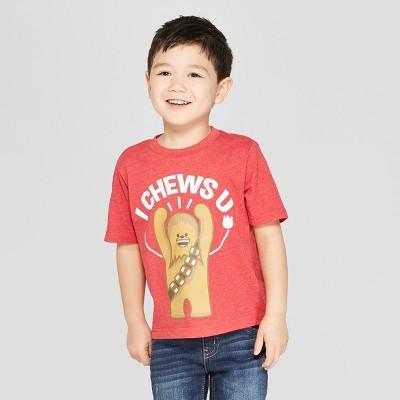 Toddler Boys' Star Wars Short Sleeve T-Shirt - Red