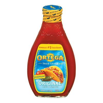 Ortega Original Thick Smooth Medium Taco Sauce 16oz