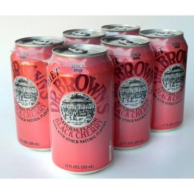 dr brown s soda diet black cherry 6 pack 72 fl oz