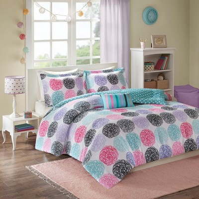 Purple Brittany Reversible Comforter Set