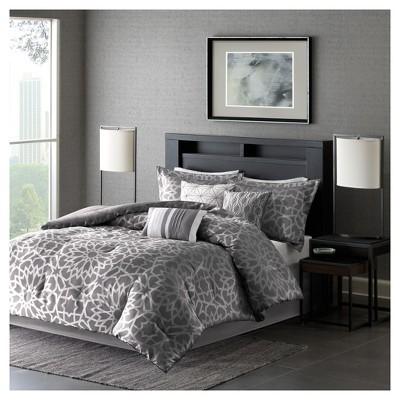 Carmela Graphic Floral Print Comforter Set - 7pc