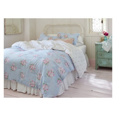 blue bella floral comforter