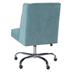 Aqua Desk Chair Revolving In Olx Draper Office Linon Target