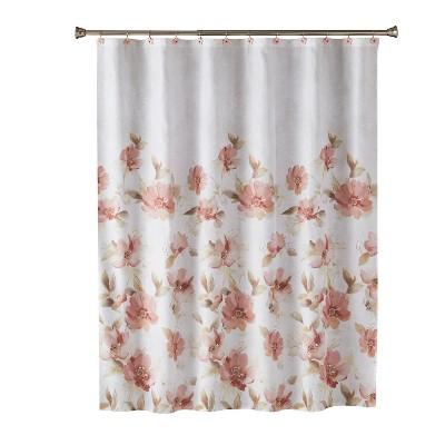 misty floral shower curtain pink saturday knight ltd