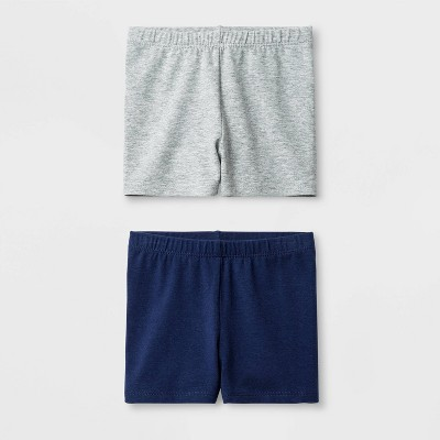 Toddler Girls' 2pk Tumble Trouser Shorts Set - Cat & Jack™ Navy/Gray