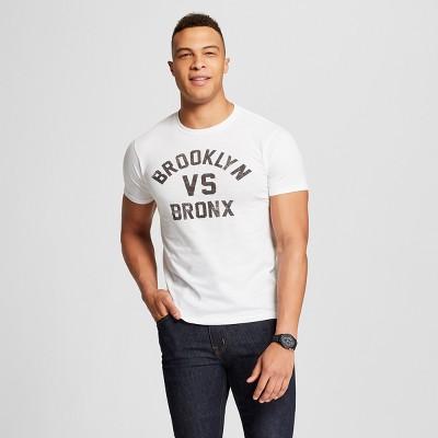 Men's New York Brooklyn vs. Bronx Short Sleeve Crew Neck T-Shirt - Awake - White XXL
