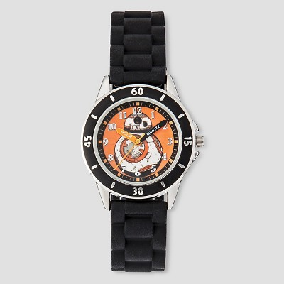 Boys' Star Wars BB-8 Time Teacher Watch - Black
