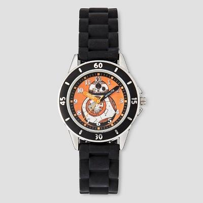 Boys' Star Wars BB-8 Time Teacher Watch - Black