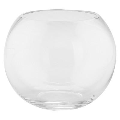 "Diamond Star Clear Glass Bubble Bowl Clear (6""x8"")"
