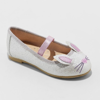 Toddler Girls' Revah Glitter Ballet Flats - Cat & Jack™ Silver