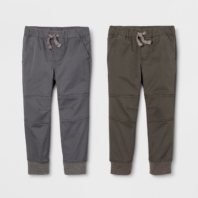 Toddler Boys' Jogger Fit 2pk Pull-On Pants - Cat & Jack™ Gray/Olive