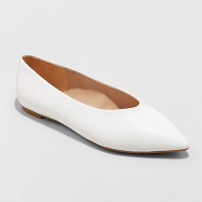 Women's Camille High Vamp Pointed Toe Ballet Flats - A New Day™
