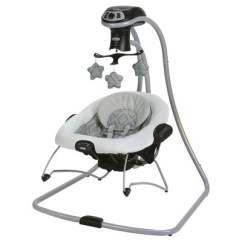Baby Swing Vibrating Chair Combo Golden Tech Chairs Graco Duetconnect Lx Multi Direction And Bouncer Asher Target