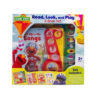 Sesame Street Read, Look, and Play 3-Book Set