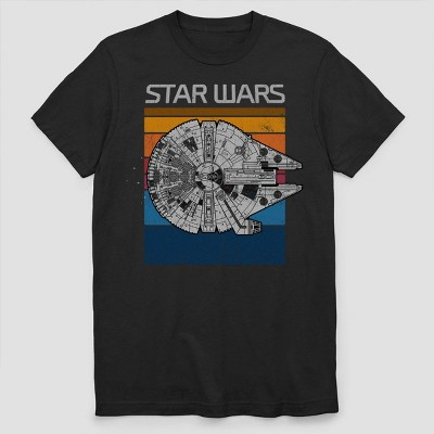 Men's Star Wars Millennium Falcon Short Sleeve Graphic T-Shirt - Black