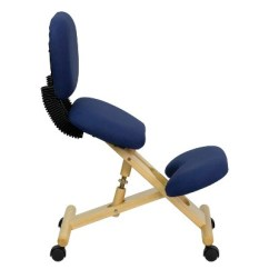 Ergonomic Chair Kneeling Posture In Australia Mobile Wooden Navy Blue Fabric With Reclining Back Flash Furniture Target