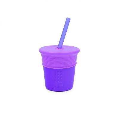 Silikids 8oz Silicone Straw Tumbler Purple