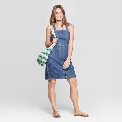 Women's Scoop Neck Tank Denim Dress - Universal Thread™ Medium Wash
