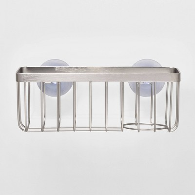 stainless steel large suction sink caddy silver made by design