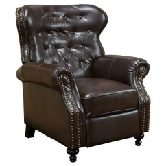 Christopher Knight Club Chair How To The Meeting Walder Bonded Leather Recliner Brown Home Target